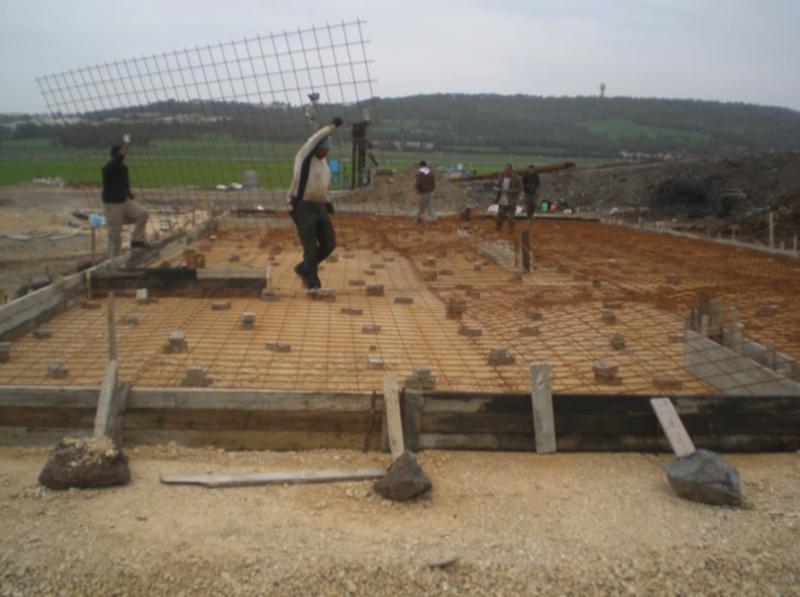 עבודות הקמת המתקן
