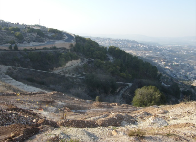Description of photograph-  Slopes of Mount Yonah before construction