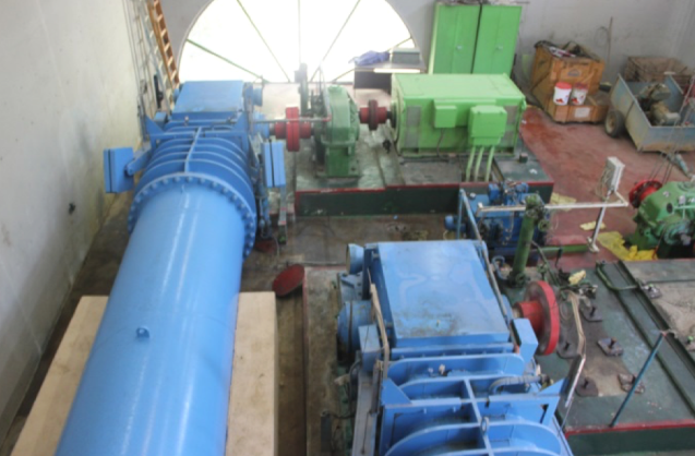 Turbines for hydroelectric electricity generation at the existing plant